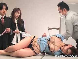 Asian sex slave gets..