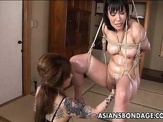 Asian thraldom babe is fisted