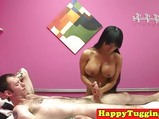 Bigtitted asian masseuse..
