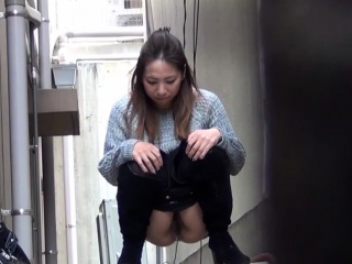 Prudish cunt asian urinates