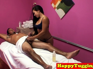 Asian masseuse dickriding..