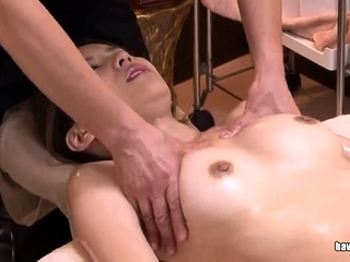Japanese slut sucking on a..