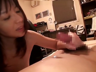 Asian mother bringing about..