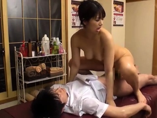 Japanese oil massage orgasm..